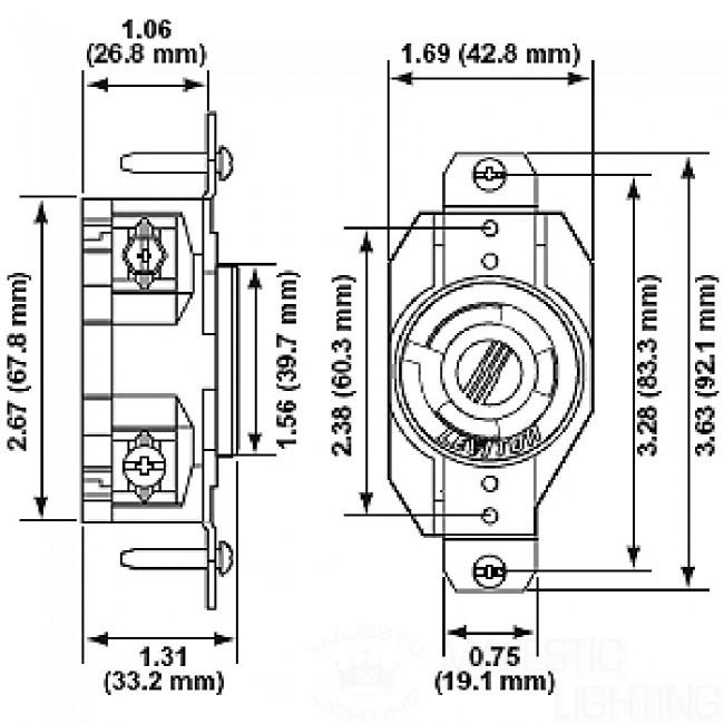 20 Amp  250 Volt  Nema L6