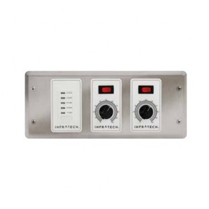 Infratech 30-4046 Electric Heater Controller, 2 Zone Analog Control w/Digital Timer