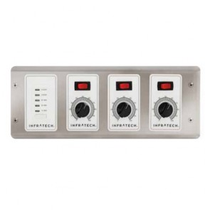 Infratech 30-4047 Electric Heater Controller, 3 Zone Analog Control w/Digital Timer