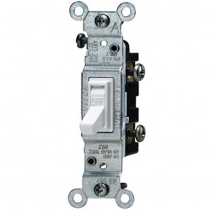 Toggle Switch, Single-Pole - White