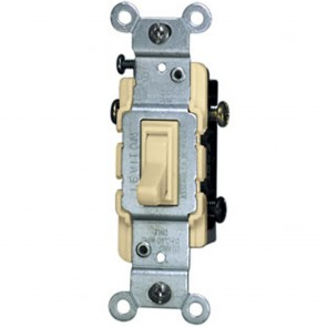 Toggle Switch, 3-Way - Ivory