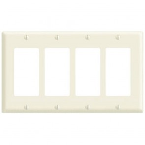 4-Gang Decora Wall Plate