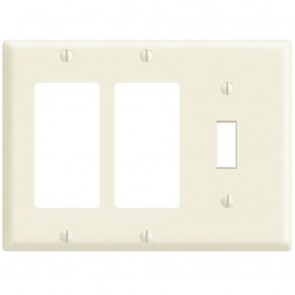3-Gang 1-Toggle 2-Decora Plastic Wallplate