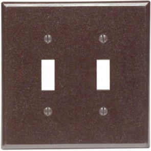 2-Gang Toggle Midway Plastic Wallplate