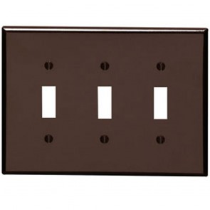 3-Gang Toggle Midway Plastic Wallplate