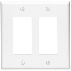 2-Gang Decora Wall Plate, Midway Size
