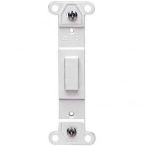 Plastic Wallplate Adapter; Blank Toggle No Hole