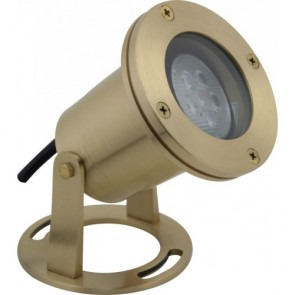 Orbit Underwater Lights, LED, Solid Brass w/ LMR16-3W-WW