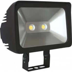 Orbit Flood Light, LED, Premium, 80W, 120-277V, 5000K, Cool White, Trunnion Mount - Bronze