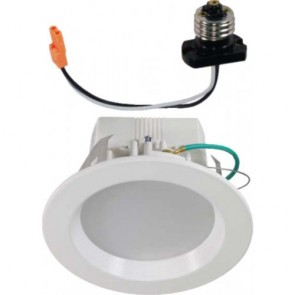 Orbit LED Recessed Lighting, 4'' 10W 120V, 3000K Warm White - Dimmable - White