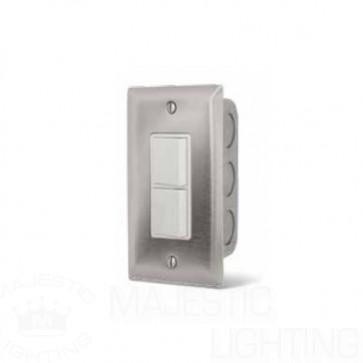Infratech 14-4300 Electric Heater Controller, Single Duplex Flush Mount Switch w/SS Wall Plate + Box - 240V