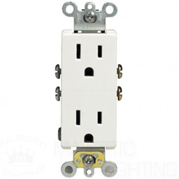 Decora Duplex Receptacle, Quickwire Push-In & Side Wired