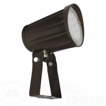 Orbit Flood Light, LED Bullet, 28W, 120-277V, 5000K, Cool White, Trunnion Mount - Bronze
