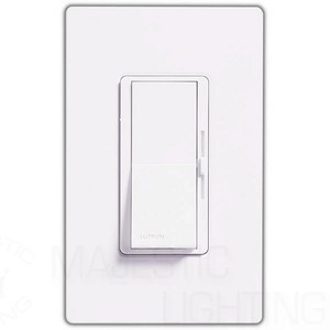 Lutron DVLV-603P-WH Dimmer Switch, 600W 3-Way Magentic Low Voltage Diva Light Dimmer
