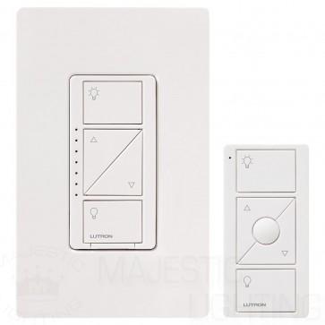 Lutron P-PKG1W-WH Caseta Wireless 600-watt/150-watt Multi-Location In-Wall Dimmer with Pico Remote Control Kit