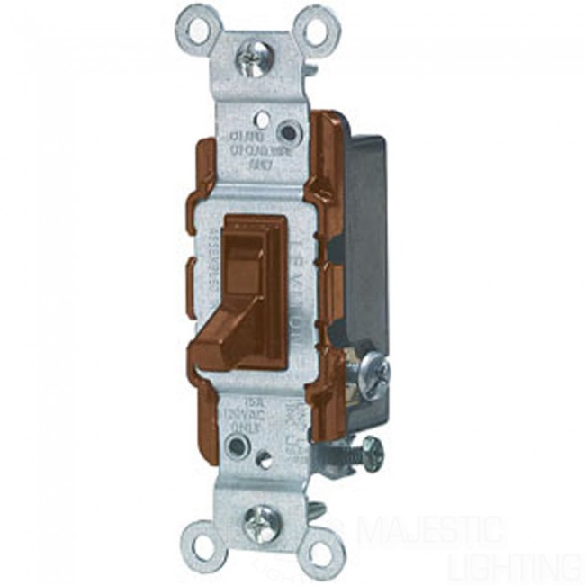 Toggle Switch 3Way Brown majestic lighting inc