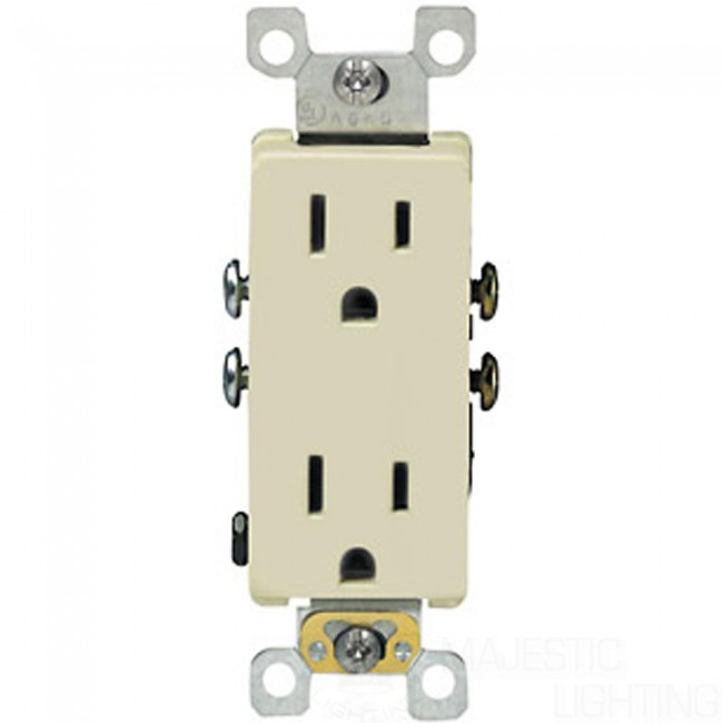 Decora Duplex Receptacle with Quickwire & Self-Grounding