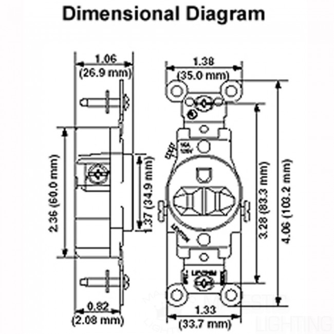 Duplex Style 3 Way 3 Way Ac  bination Switch 659 in addition 1 Gang Receptacle Plate Brown 730 additionally 1 Gang Receptacle Plate Brown 704 in addition  on under cabinet puck light installation