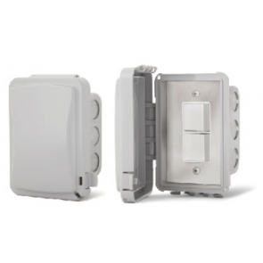 Infratech 14-4310 Electric Heater Controller, Single Duplex Flush Mount Switch w/Weatherproof Cover - 240V