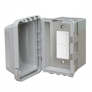 Infratech 14-4320 Electric Heater Controller, Single Duplex Flush Mount Switch w/Weatherproof Box + Cover - 240V