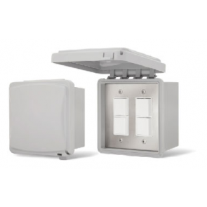 Infratech 14-4325 Electric Heater Controller, Dual Duplex Flush Mount Switch/Weatherproof Box + Cover - 240V