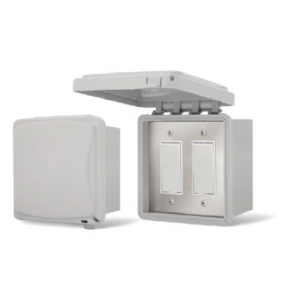 Infratech 14-4400 Electric Heater Controller, Single Duplex Flush Mount w/SS Wall Plate + Gang Box - On/Off Only - 240V