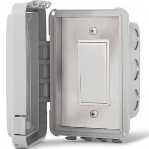 Infratech 14-4410 Electric Heater Controller, Single Duplex Flush Mount w/Weatherproof Cover - On/Off Only - 240V
