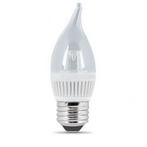 40 Watt Equivalent Dimmable Performance LED Flame Tip Chandelier