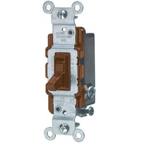 Toggle Switch, 3-Way - Brown