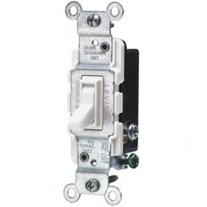 Toggle Switch, 3-way - White