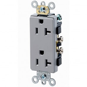 5-20R Decora Duplex Receptacle Commercial - Black