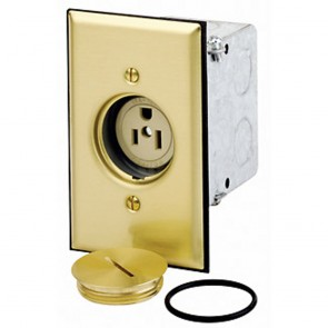 5-15R Floor Box Assembly Single Commercial Receptacle