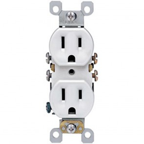 Duplex Receptacle with Quickwire & Self-Grounding