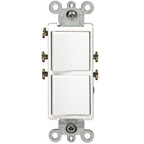 Decora Combination Switch, Double Single-Pole Rocker
