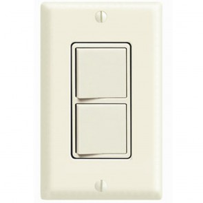 Decora Combination Switch, Double 3-Way Rocker