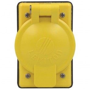 1-Gang Weather-Resistant Locking Single NylonWallplate