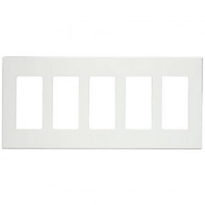 5-Gang Screwless Decora Wallplate