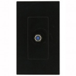 Single F-Type Screwless Wallplate Flush Wall Jack Insert