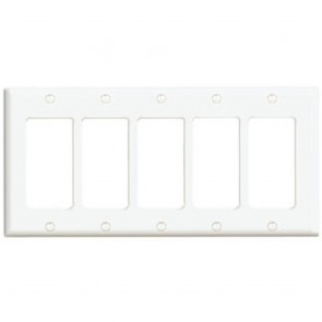 5-Gang Decora Wall Plate