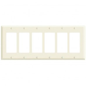 6-Gang Decora Wall Plate