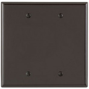 2-Gang Blank Midway Plastic Wallplate