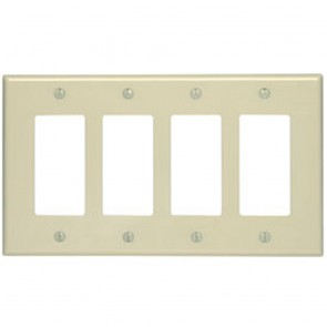 4-Gang, Decora midway size smooth plastic wallplate