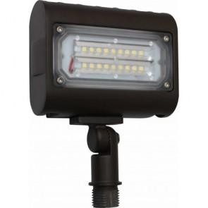 Orbit Flood Light, LED, 15W, 120-277V, 5000K, Cool White, Knuckle Mount - Bronze