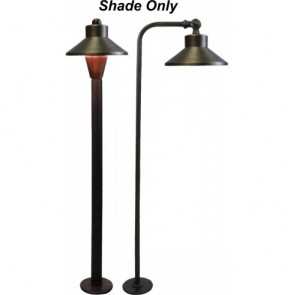 Orbit Landscape Light Shade for B180/B280 Series -Antique Brass