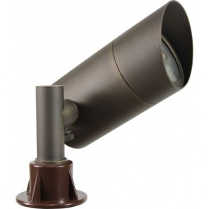 Orbit Directional Light, LED, 3W, Outdoor, Solid Brass, 12V, 3000K - Architectural Bronze