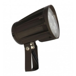 Orbit Flood Light, LED Bullet, 15W, 120-277V, 3000K, Warm White, Trunnion Mount - Bronze