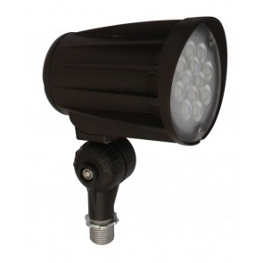 Orbit Flood Light, LED Bullet, 28W, 120-277V, 3000K, Warm White, Knuckle Mount - Bronze