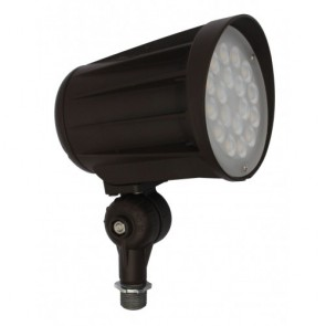 Orbit Flood Light, LED Bullet, 42W, 120-277V, 5000K, Cool White, Knuckle Mount - Bronze