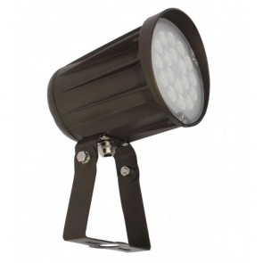 Orbit Flood Light, LED Bullet, 42W, 120-277V, 3000K, Warm White, Trunnion Mount - Bronze