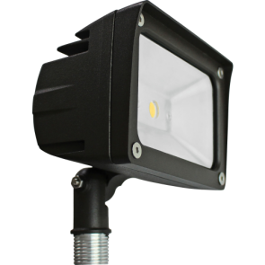 Orbit Flood Light, LED, Premium, 10W, 120-277V, 3000K, Warm White, Knuckle Mount - Bronze